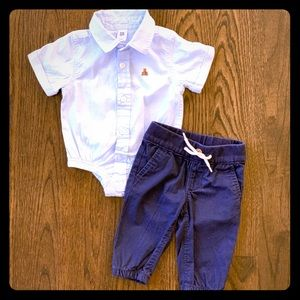BabyGap Blue Preppy Outfit